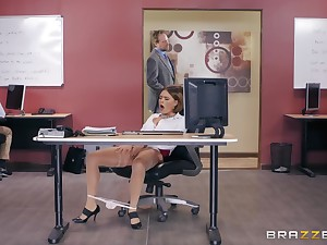Office missionary fuck and cum on interior for secretary Krissy Lynn