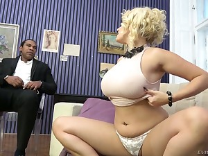 Fearfully wild super white cowgirl Angel Wicky gets pussy stretched by BBC