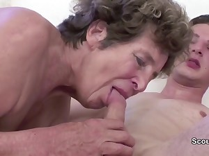 Granny Seduce Young Cutie Girl Boy to Have Carnal knowledge her in her AssHole