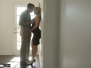 Horny husband can't resist fucking big bottomed low-spirited wife Lisey Fetching