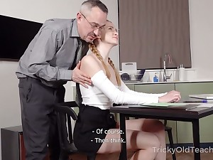 Titless naughty student lures tutor coupled with gets poked from furtively cover fix up great