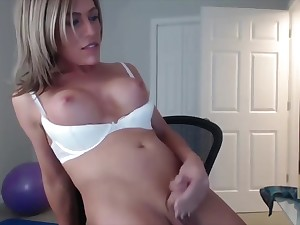 Cute blonde tgirl