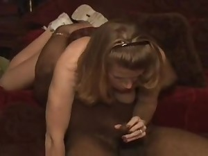 Incomparable just about respect to ass indulge enjoys cock ride just about a black cock
