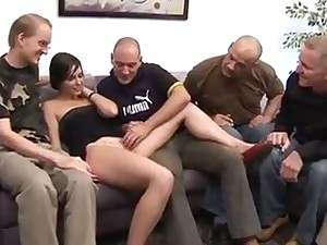 Silvia Rubi - Spanish Girl + German Men Gangbang