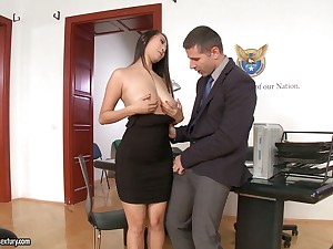 21 Sextury compilation featuring slutty secretaries having copulation in the office