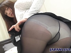 Amateur Japanese chick Yuriko Inada gives her head and gets her muff nailed