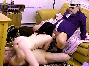 Teen slut suits day and his dad with eradicate affect right trio