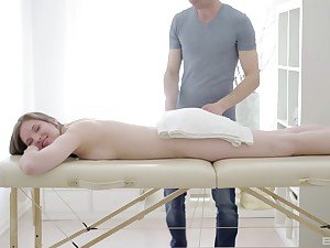 Young beauty Chloe receives invigorating massage and more